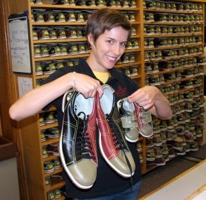 bowling shoes at Indiana University bowling lanes
