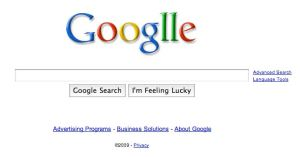 Google's logo on Sept. 27, 2009, to celebrate Google's 11th birthday