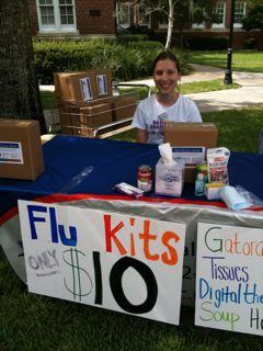 Flu Kits at University of Florida 2009