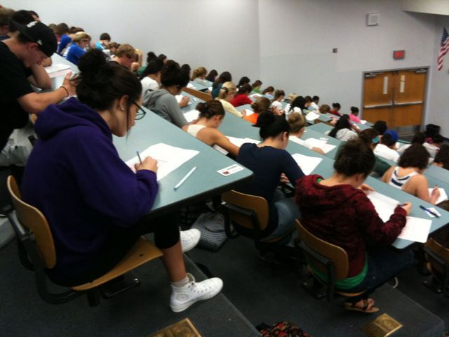 Students in UF auditorium