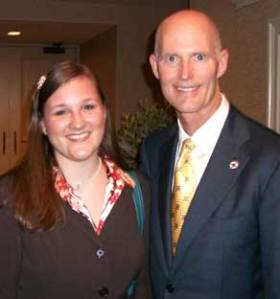 Dana Edwards was one of the James Madison Institute interns invited by the Republican Party in Tallahassee to attend their Lincoln Day Dinner where Florida Gov. Rick Scott was the speaker.