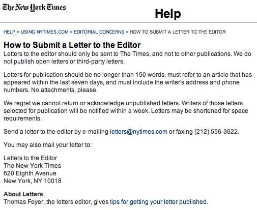 how do you write a letter to the editor