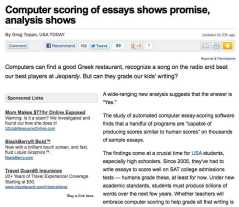 computer scoring of essays, grading papers