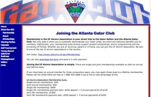 Atlanta Gator Club, university alumni association