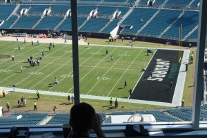 Press box for Jacksonville Jaguars