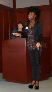 Rokeshia Ashley shared inClass, an app that can help students -- or faculty -- get organized.