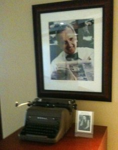 Nelson Poynter's Royal typewriter is on display -- the same model that my mom had. iPhoto by Julie Dodd