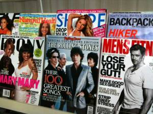 magazine covers on newsstand