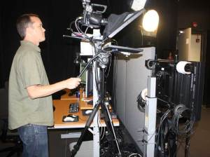Joe Nicholson records online teaching presentation at UF's Center for Instructional Technology and Training