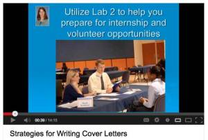 Julie Dodd's YouTube video Strategies for Writing Cover Letters