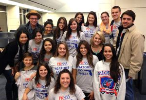 UF PRSSA members in the Jacksonville airport ready to board the flight to Philadelphia for the PRSA convention.