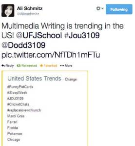 #JOU3109 trending - screen capture
