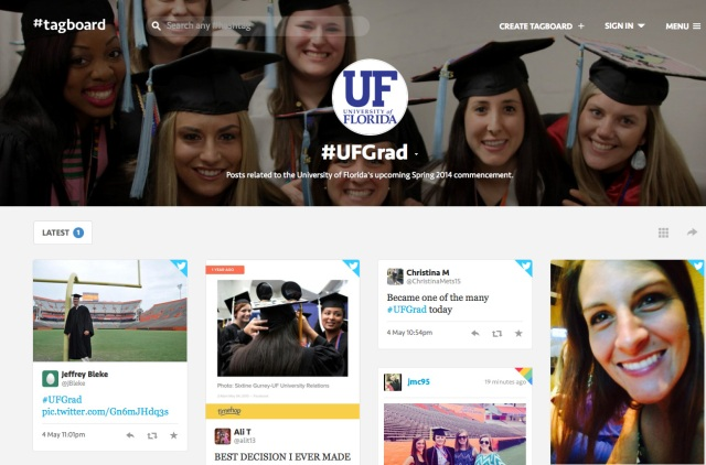 #UFGrad on Tagboard
