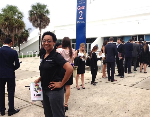 Nadene Reynolds at Career Showcase