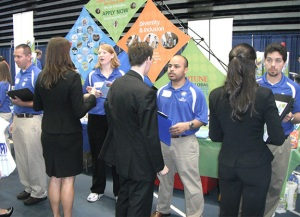 Interviewing at UF's Career Showcase