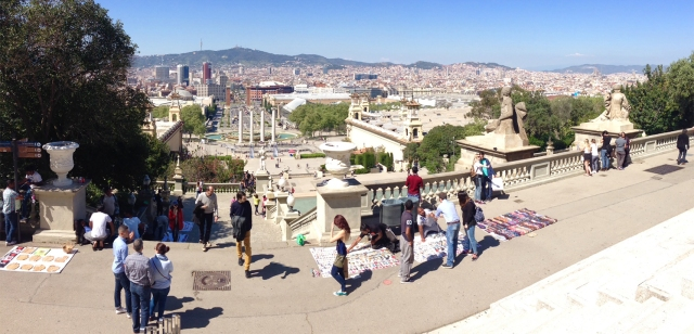 View of Barcelona from the National Museum of Art of Catalunya