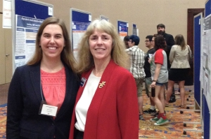 Charlotte Bolch and Julie Dodd at Graduate Student Research Day