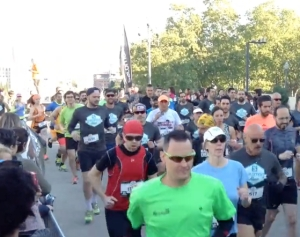 Start of Salomon Run Barcelona