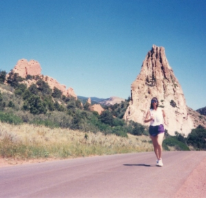 running in Garden of the Gods
