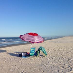 beach umbrella - photo by Julie Dodd