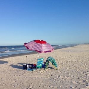 beach umbrella - photo by Julie Dodd