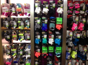 rack of running socks