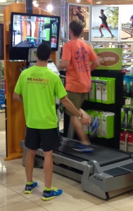 treadmill in running store