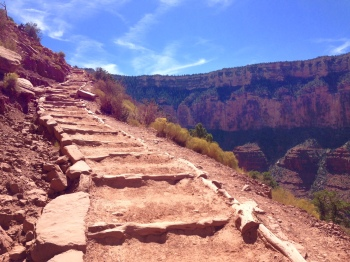Stairs on South Kaibab Trail - photo by Julie Dodd