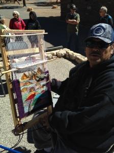 Native American weaver