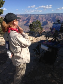 Lyn Boyer painting at Grand Canyon