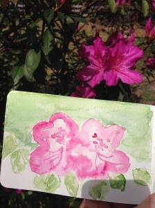 azalea-water-color-by-Julie-Dodd