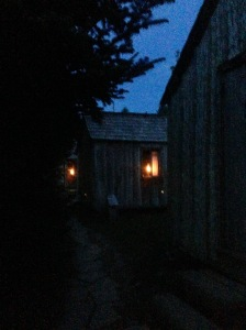 lamplight in cabins at Mt. Le Conte - photo by Julie Dodd