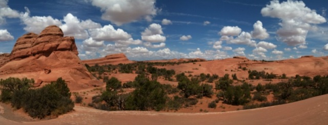 Arches panorama - photo by Julie Dodd