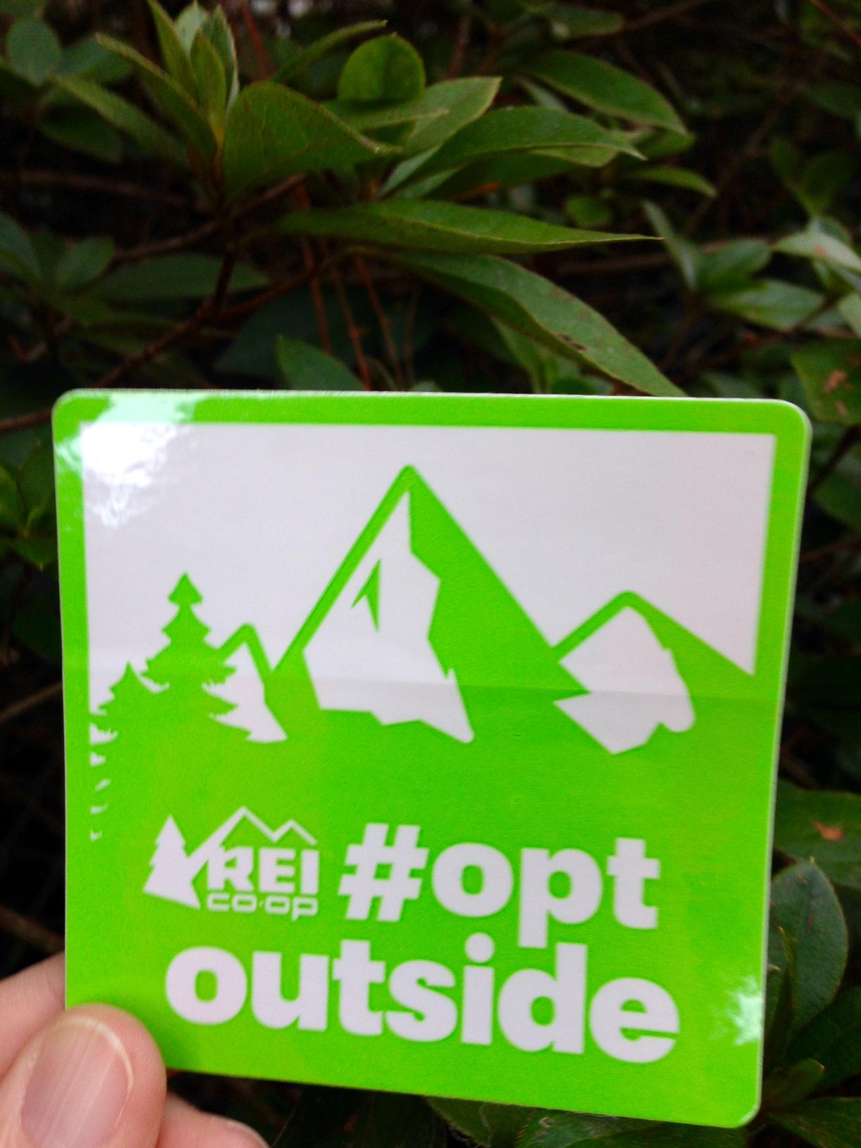 REI #OptOutside sticker