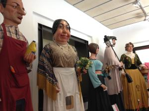 Gegants at The Giants Museum in Barcelona