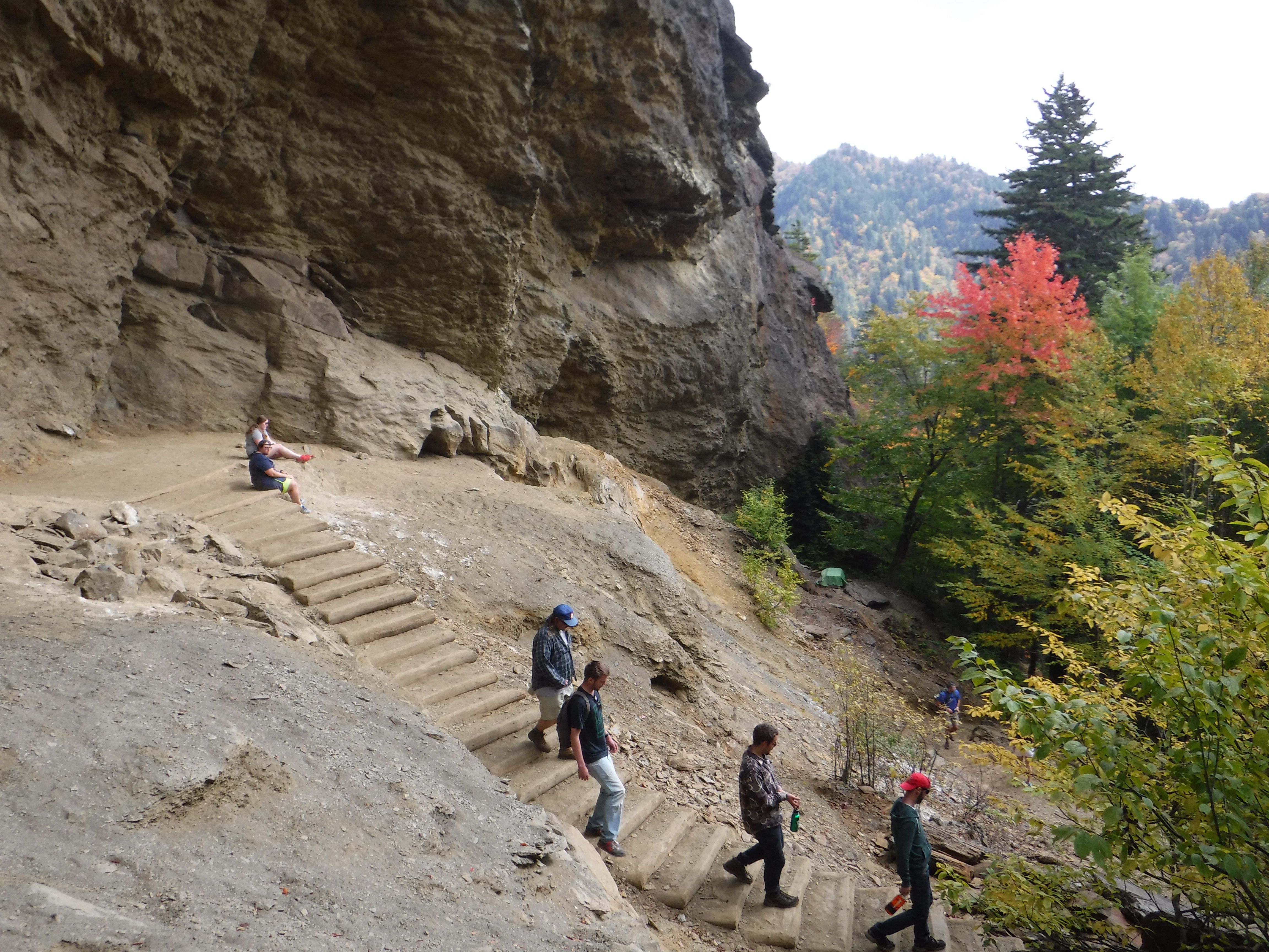hikers at Alum Cave