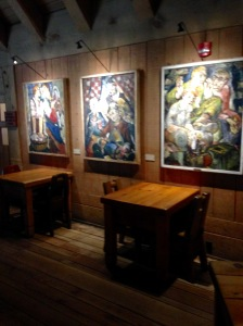oil paintings by Darrel Austin at Timberline Lodge