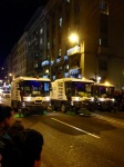 sanitation trucks clear street in BCN Three Kings Parade