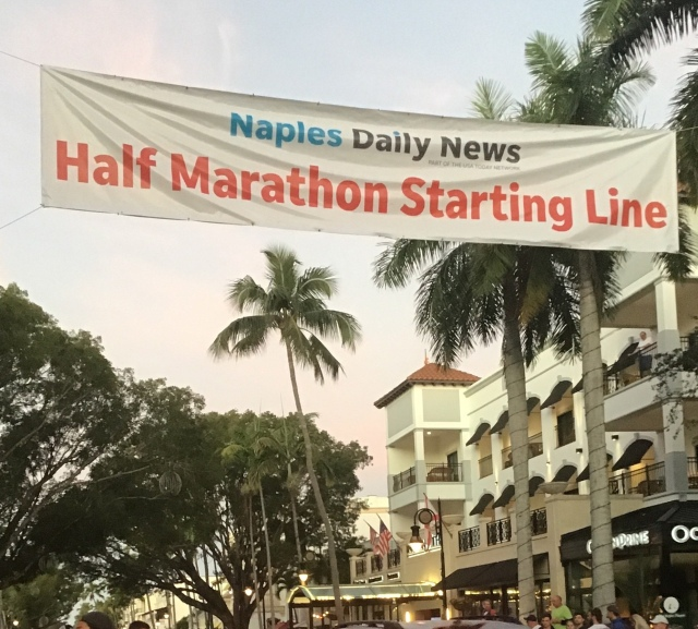 Naples Half Marathon starting line