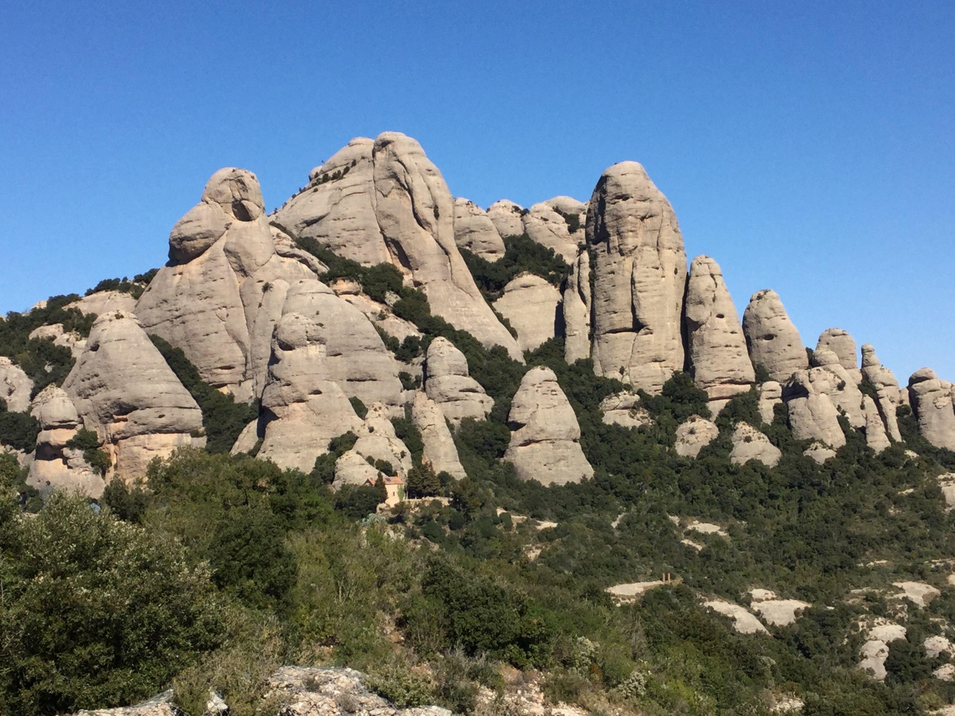 Montserrat rock structures - Photo by Julie Dodd