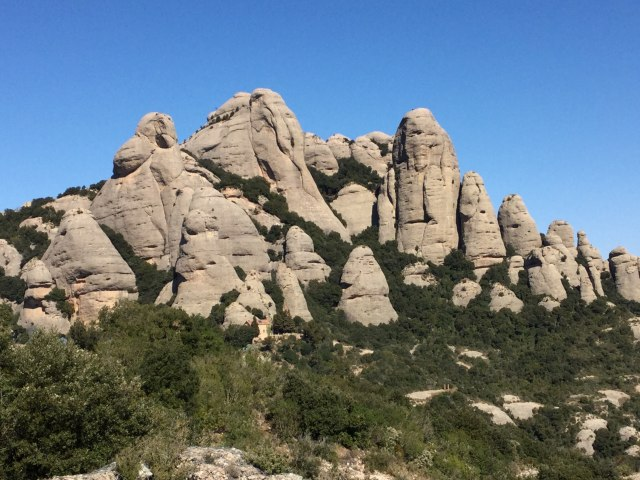 Montserrat rock structures - Photo by Julie Dodd
