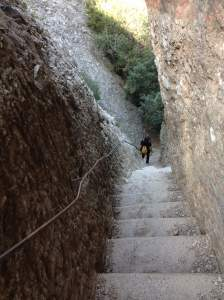 Concrete stairs on trail to Sant Jeromi - photo by Julie Dodd