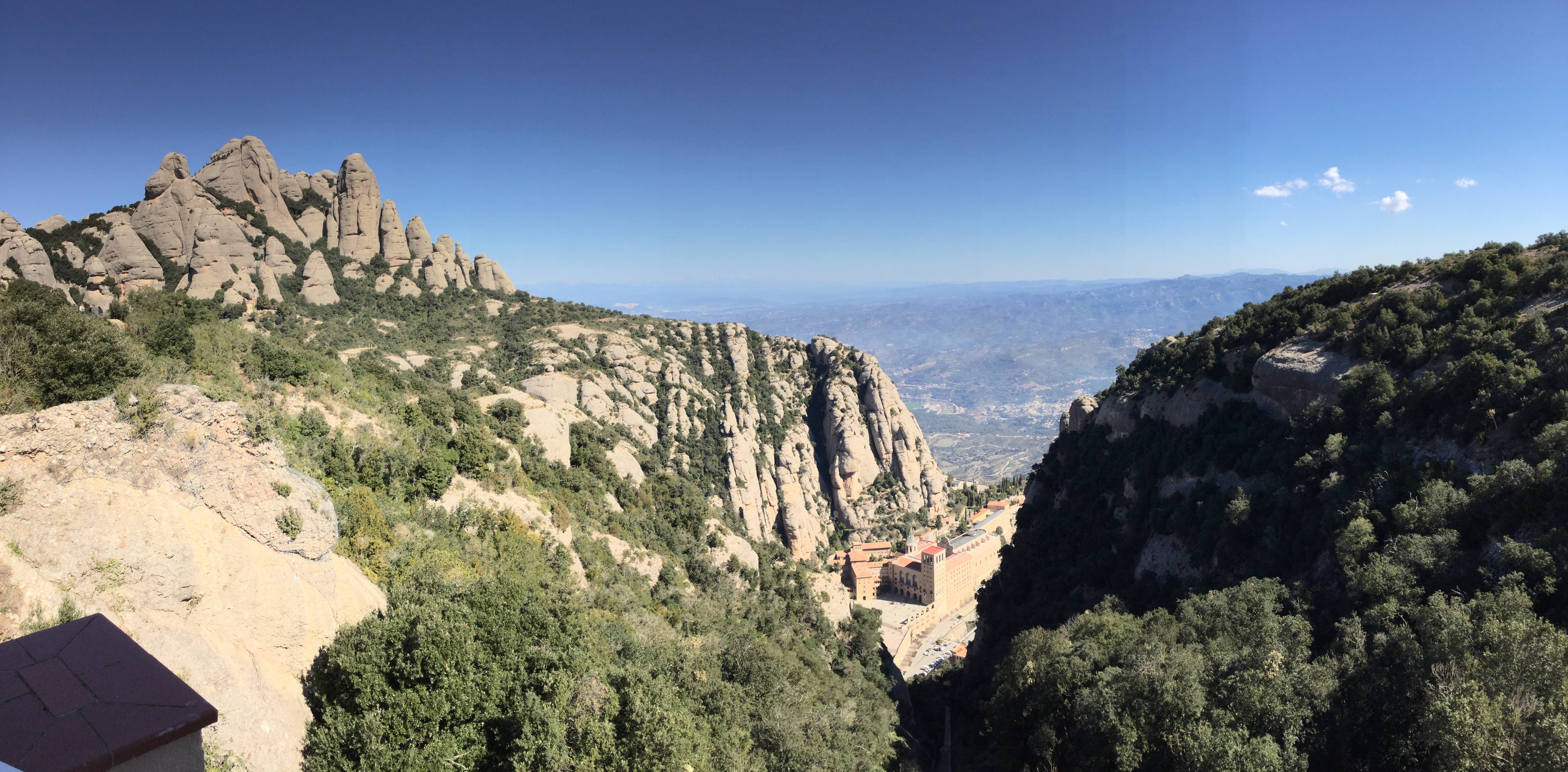 View of Montserrat Abbey. Photo by Julie Dodd