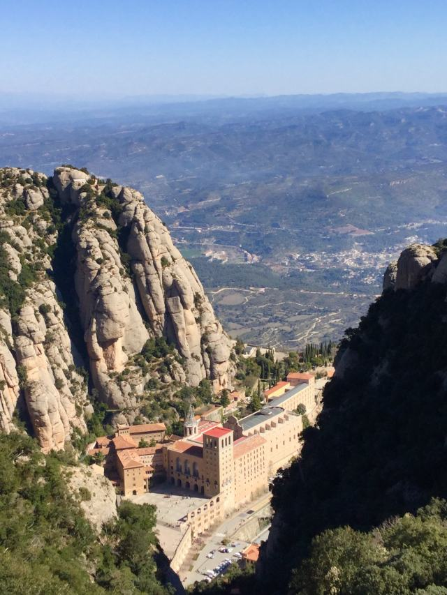 View from Sant Joan funicular upper station - photo by Julie Dodd
