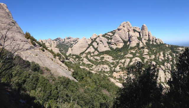 Trail from Sant Joan to Sant Jeroni - photo by Julie Dodd