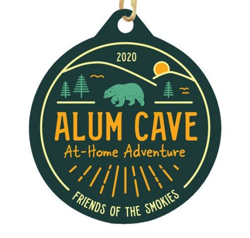 Alum Cave At-Home Adventure finisher medal