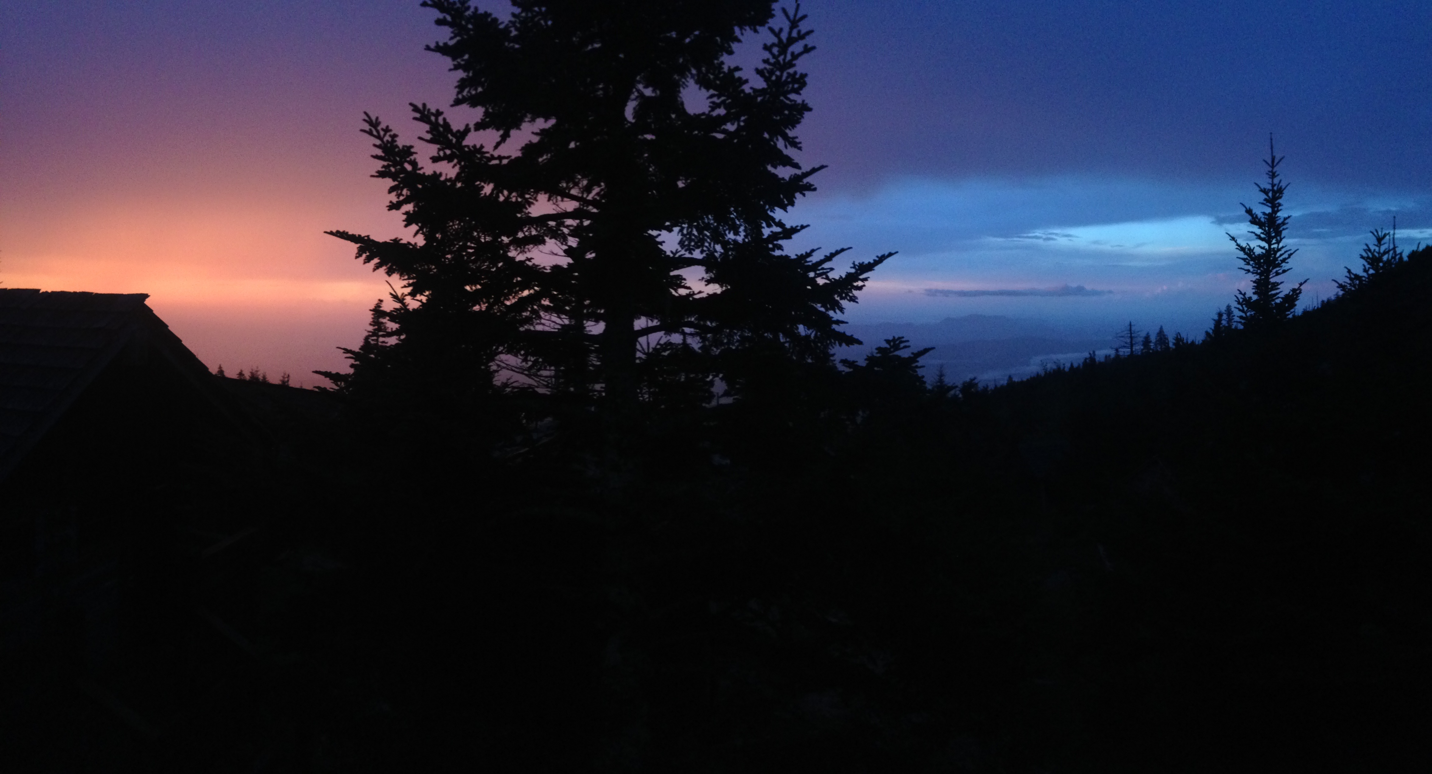 sunset at LeConte Lodge