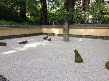 Portland Japanese Garden Sand and Stone Garden - photo by Julie Dodd