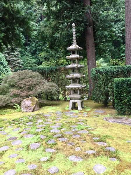 Portland Japanese Garden Sapporo Lantern - photo by Julie Dodd