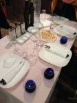 olive oil sampling table